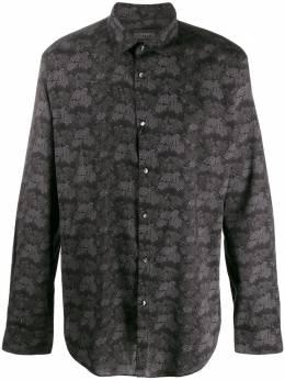 John Varvatos рубашка с цветочным узором W416V472KY