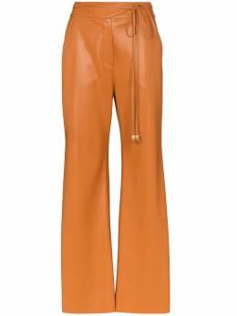 Nanushka брюки Chimo из искусственной кожи WPA00169