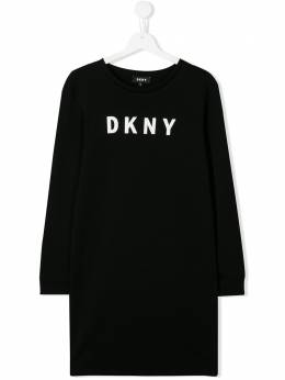 DKNY Kids платье-толстовка с логотипом D32716