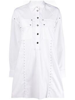 Diesel платье-рубашка с заклепками 00S80E0QAYV