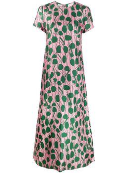La Doublej расклешенное платье с цветочным принтом DRE0001SIL001