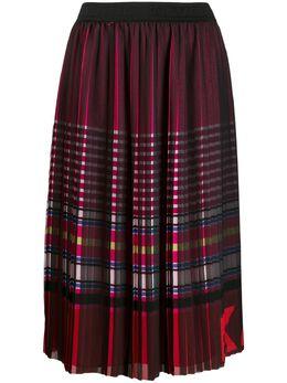 Karl Lagerfeld плиссированная юбка в полоску 201W1200900