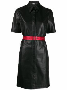 Karl Lagerfeld платье-рубашка из искусственной кожи 201W1310999