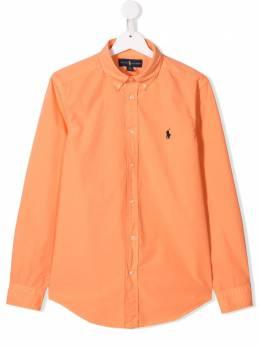 Ralph Lauren Kids рубашка с вышитым логотипом 323737247