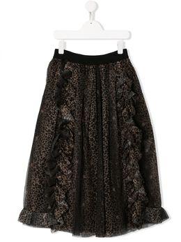 John Richmond Junior юбка Astkey с леопардовым принтом RGA19195GO
