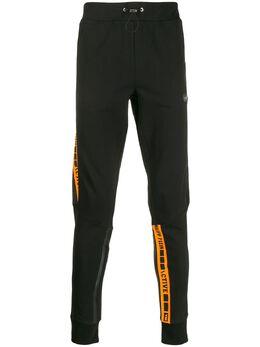 Philipp Plein спортивные брюки с логотипом на лампасах P19CMJT1016PJO002N