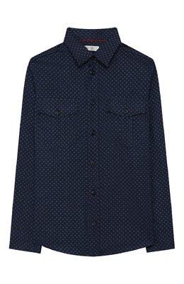 Хлопковая рубашка Brunello Cucinelli BW619C340A