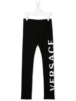 Young Versace легинсы с логотипом YC000207YA000191