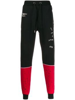 Philipp Plein спортивные брюки в стиле колор-блок P19CMJT1159PJO002N