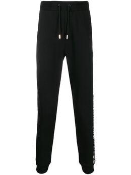 Philipp Plein спортивные брюки с логотипами на лампасах S20CMJT1485PJO002N