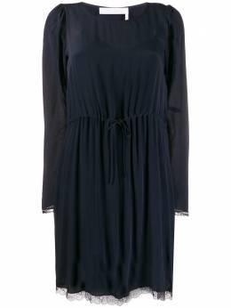 See By Chloe платье-трапеция с длинными рукавами CHS20SRO16014