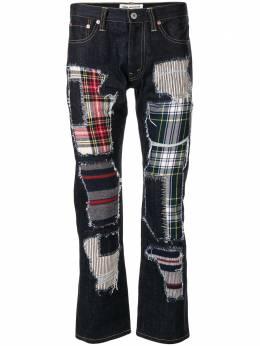 Junya Watanabe Comme Des Garcons Pre-Owned джинсы в технике пэчворк с эффектом потертости XNP011