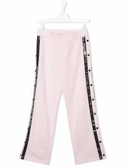 Balmain Kids брюки с логотипом на лампасах 6M6527MA010