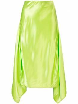Sies Marjan атласная юбка Darby асимметричного кроя 13WV70177570