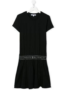 Givenchy Kids трикотажное платье с логотипом H1211209B
