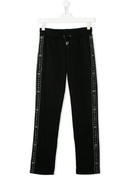Givenchy Kids спортивные брюки из джерси с логотипом H1408209B