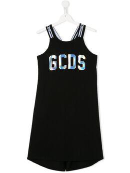 GCDS Kids платье без рукавов с логотипом 022731110