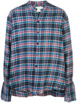 Greg Lauren клетчатая рубашка с необработанными краями SS20M103