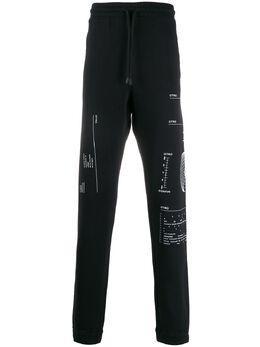 Marcelo Burlon County Of Milan спортивные брюки с принтом CMCH010R20FLE0031001