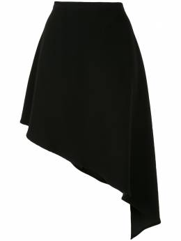 Strateas Carlucci юбка асимметричного кроя с драпировкой SCSS20D1WSKT001BLK