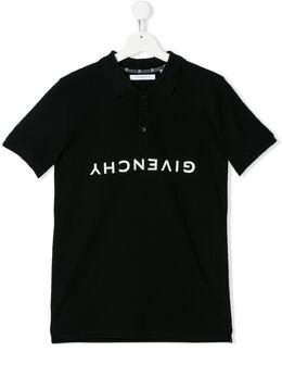 Givenchy Kids рубашка-поло с логотипом H2516309B