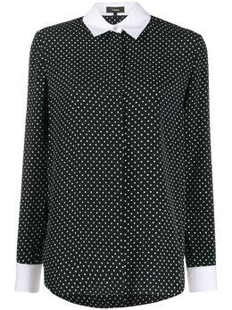 Theory рубашка прямого кроя в горох J1106501