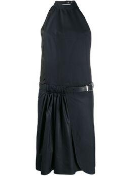 Zilver платье миди с поясом SS19WDR02