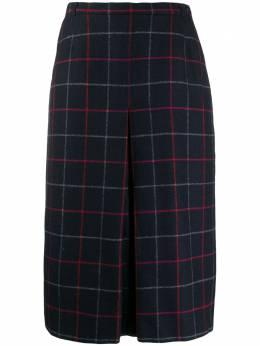 Burberry Pre-Owned юбка А-силуэта 1980-х годов в клетку 130478