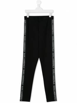 Karl Lagerfeld Kids легинсы с низким шаговым швом Z14100
