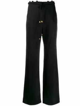Nanushka атласные брюки FLAXBLACKWASHEDSATIN