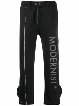 A-Cold-Wall* спортивные брюки с надписью TRD02BLAK