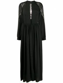 John Richmond длинное платье Marfao со складками RWA19449VE