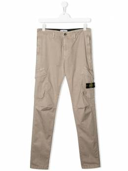 Stone Island Junior брюки карго с логотипом MO721630311