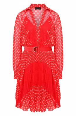 Платье с поясом Ermanno Ermanno Scervino 46T AB76 FAN