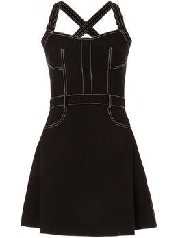 Dion Lee платье мини с декоративной строчкой A9635R20