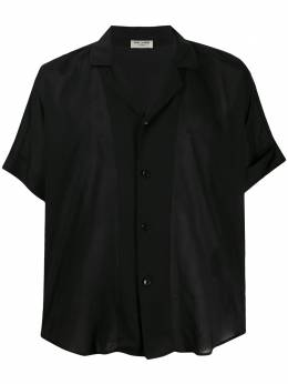 Saint Laurent прозрачная рубашка с короткими рукавами 596009Y532U