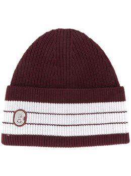 Coach шапка бини с контрастными полосками 88796