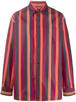 Marni полосатая рубашка оверсайз CUMU0001A0S52538