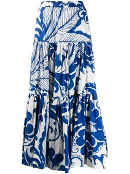 La Doublej расклешенная юбка Marea Blu с принтом SKI0001COT001