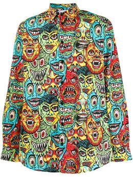 Moschino рубашка с принтом J02010251