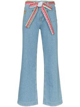 Mira Mikati джинсы широкого кроя с плетеным ремнем DEN015SS20