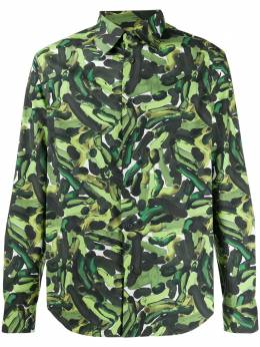 Marni рубашка с камуфляжным принтом CUMU0024A0S52765