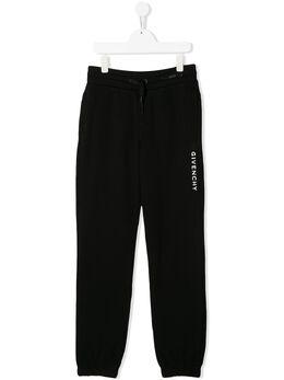 Givenchy Kids спортивные брюки с логотипом H2409009B
