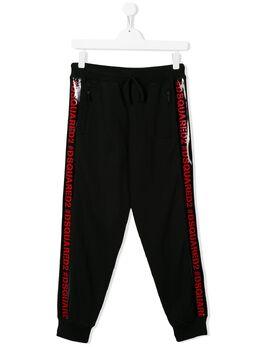 Dsquared2 Kids спортивные брюки с логотипом DQ03XSD00Y0