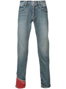 424 облегающие джинсы со вставками 424CSS180032