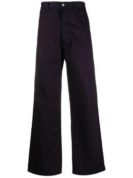 Maison Margiela брюки с узором в елочку S50KA0510S30680