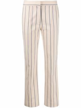 Victoria, Victoria Beckham брюки кроя слим в полоску 2120WTR000657A