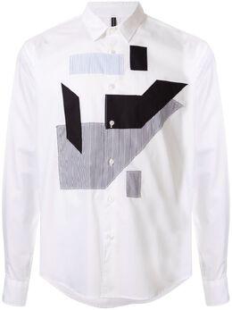 Blackbarrett рубашка с длинными рукавами и нашивками A43XCM512WBM
