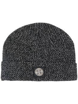 Stone Island шапка бини с нашивкой-логотипом MO7115N16C6