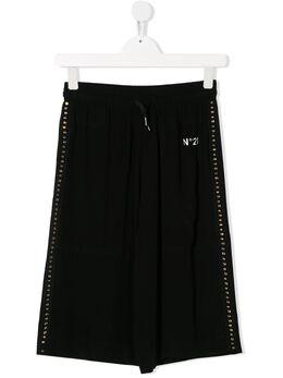No.21 Kids декорированные брюки широкого кроя N214AGTN0054